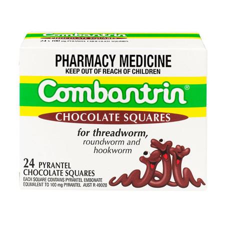 COMBANTRIN CHOC SQUARES 24
