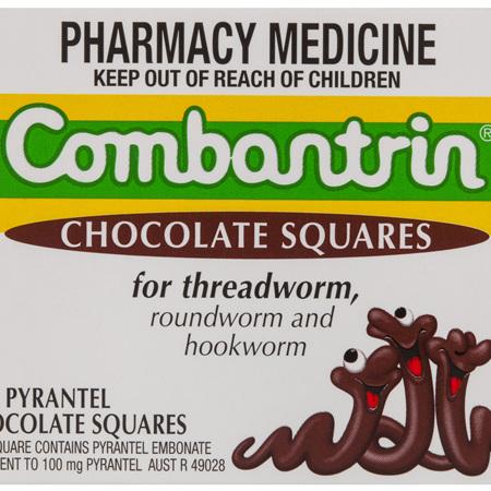 Combantrin Chocolate Squares 24 Pack