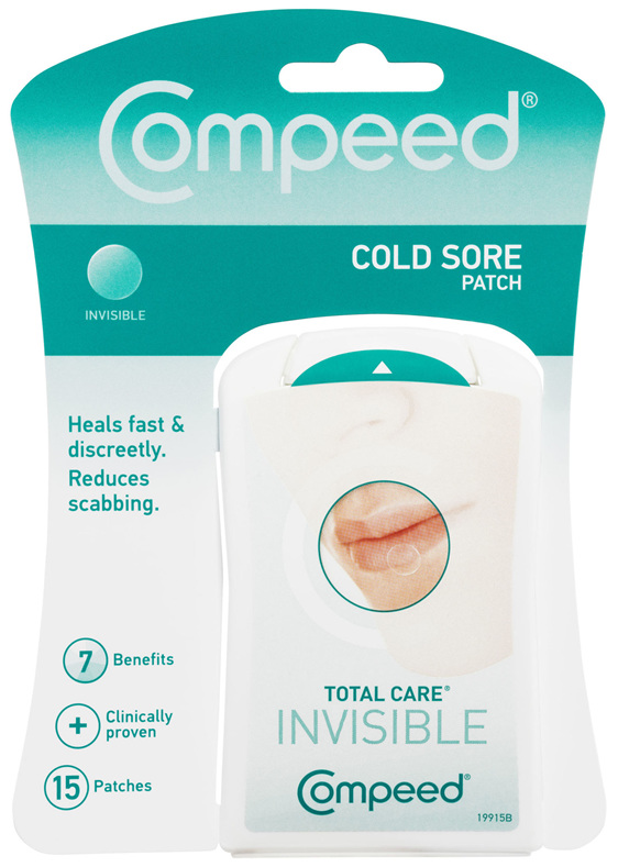 Compeed Cold Sore Patch Total Care Invisible 15 Pack
