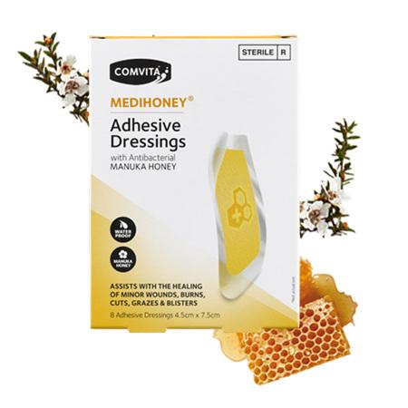 COMV Medihoney Adhesive Dressing Large 8