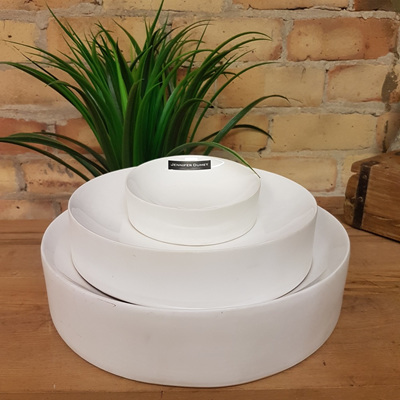 Concave Bowl White Ceramic