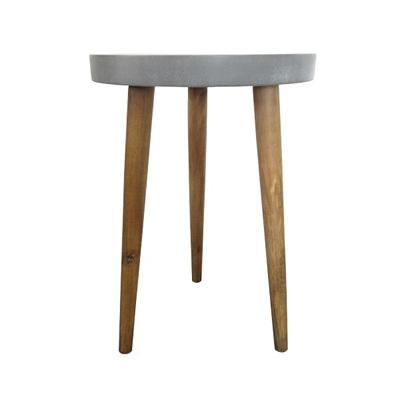 Concrete Look Side Table Medium