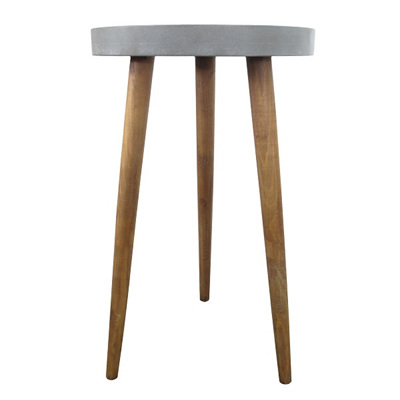 Concrete Look Side Table Tall