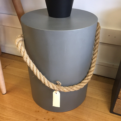 Concrete Stool with Rope Handles