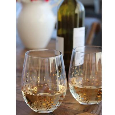 Confetti Stemless Wine Glass - S/4