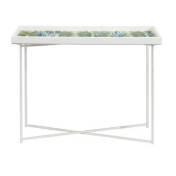 Console Table Palm Leaf Design