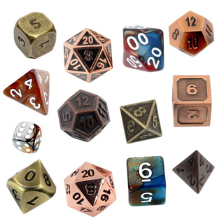 Copper & Brass Dice