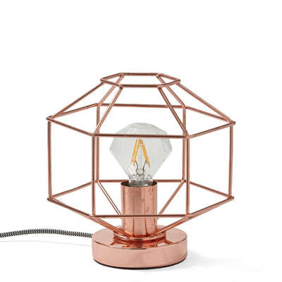 Copper Diamond Outline Lamp