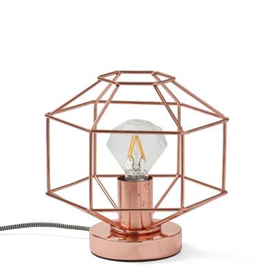 Copper Diamond Outline Lamp