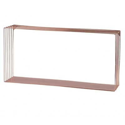Copper Metal Wire Wall Shelf