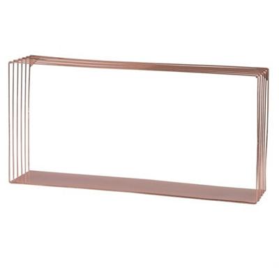 Copper Metal Wire Wall Shelf