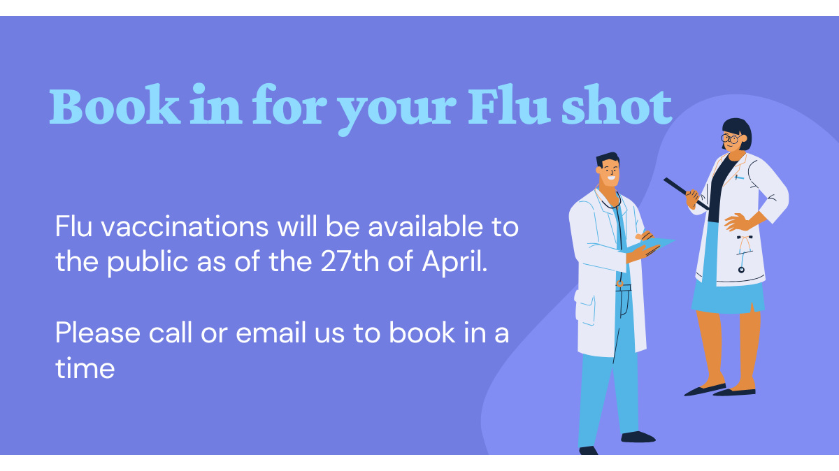 Get you Influenza vaccination now