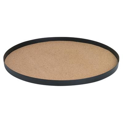Cork Base Metal Tray Round - Large