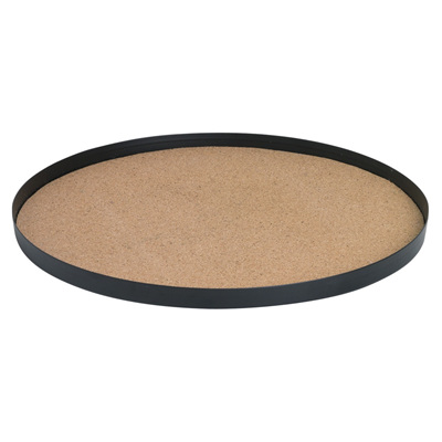 Cork Base Metal Tray Round Large