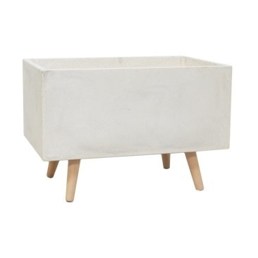 Cosmo Fibre Clay Planter - White 55 x 25cm