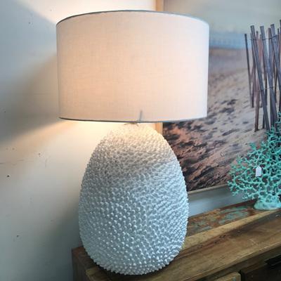 Cowrie Resin Shell Table Lamp 77cmh