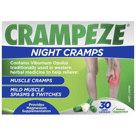 Crampeze Night Cramps 30 Capsules