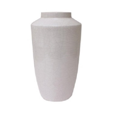 Cream Crackled Ceramic Vase