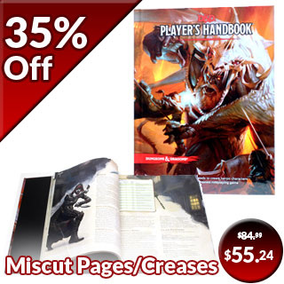 Creased and Miscut Pages - Dungeons & Dragons: Player's Handbook