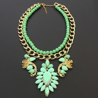 Crest Layer Necklace - Mint