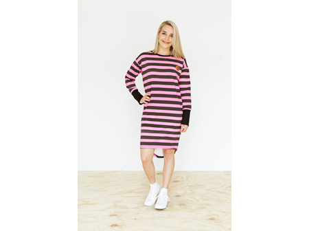 CREW NECK DRESS BLACKPINK SIZE10