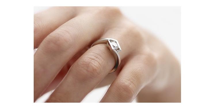 Croft Brilliant cut modern platinum diamond ring