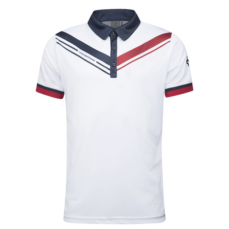 Cross Cut Polo - White