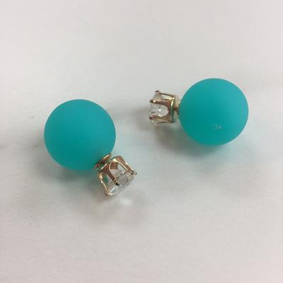 Crystal Aqua 2 in 1 Earrings