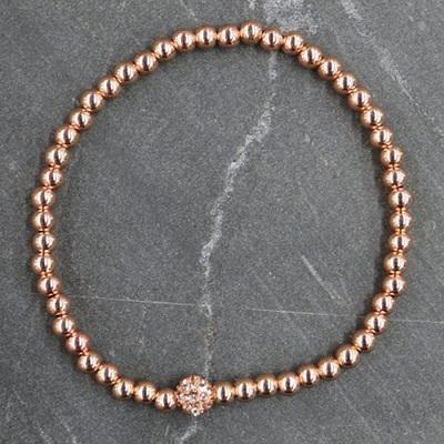 Crystal Ball Bracelet - Rose Gold