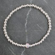 Crystal Ball Bracelet - Silver