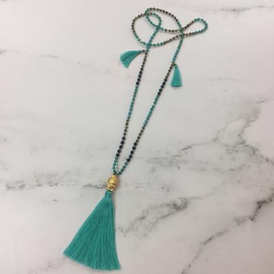 Crystal Buddha Necklace - Turquoise