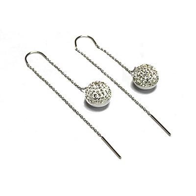 Crystal Earrings - Silver