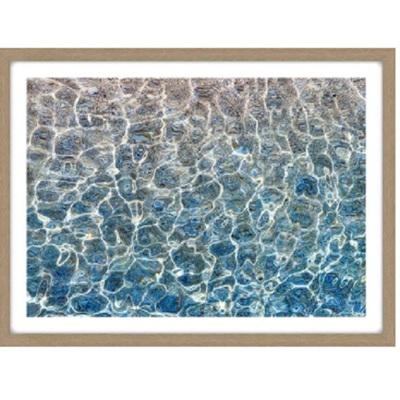 Crystal Glass Framed Print - Oak Look Frame