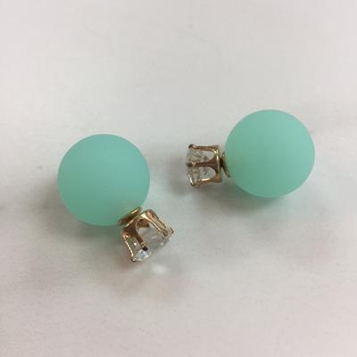 Crystal Mint 2 in 1 Earrings