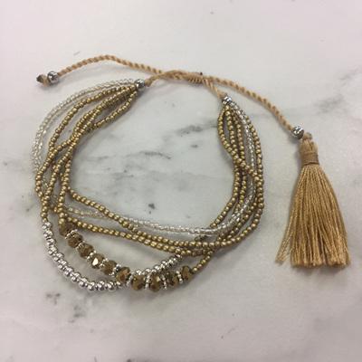 Crystal Stack Bracelet - Gold