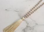 Crystal Tide Tassel Necklace - Cassy Cream