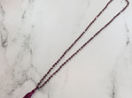 Crystal Tide Tassel Necklace - Demi Berry
