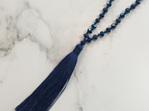 Crystal Tide Tassel Necklace - Kerry Blue