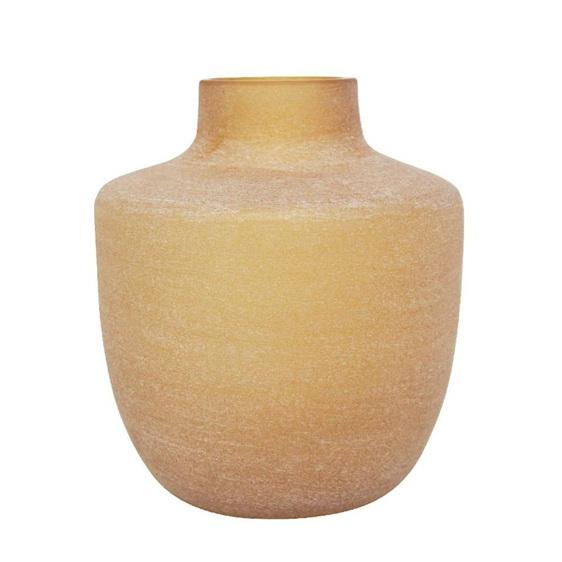 Cuba Glass Vase - Sandy Amber - 28cmh