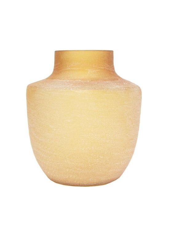 Cuba Glass Vase - Sandy Amber - 31cmh