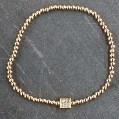 Cube Bracelet - Gold