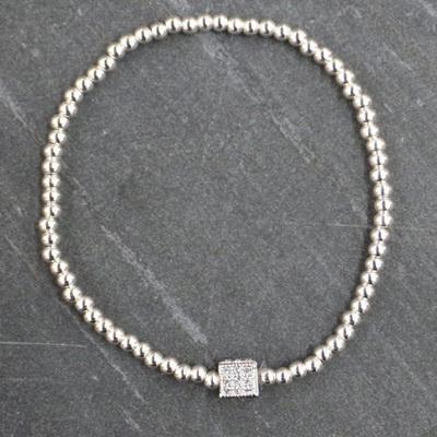 Cube Bracelet - Silver