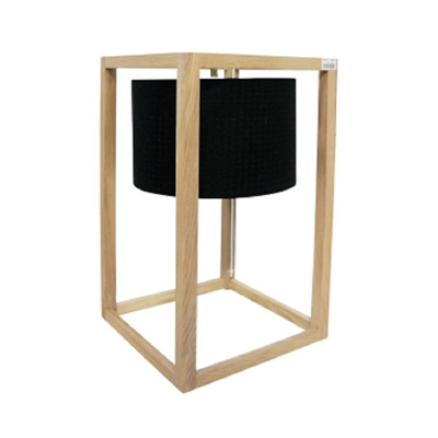 Cube Table Lamp - Black Shade