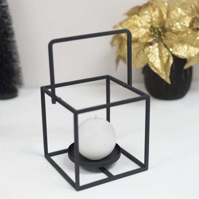 Cube Tealight Holder Black
