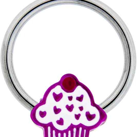 Cupcake Captive Bead Ring 14g