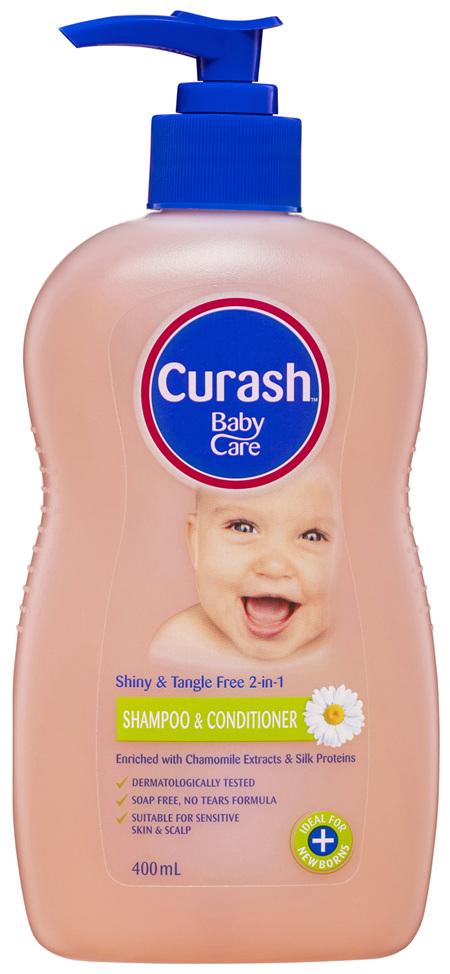 Curash Babycare 2 in 1 Shampoo & Conditioner 400mL