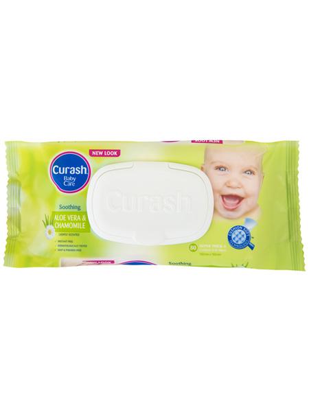 Curash Babycare Aloe Vera & Chamomile Baby Wipes 80 Pack
