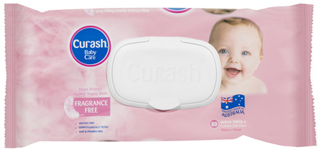 Curash Babycare Fragrance Free Baby Wipes 80 Pack