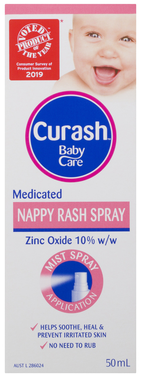 Curash Babycare Medicated Nappy Rash Spray 50mL