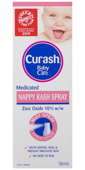 Curash Babycare Medicated Nappy Rash Spray 50mL